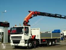 Vrachtwagen DAF CF 85.360 /6X2/BOX-6,8M+CRANE PALFINGER PK36002 tweedehands platte bak