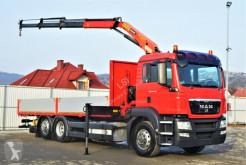 Camion MAN TGS 26.360 Pritsche 7,10 m+Kran/FUNK *6x2! plateau occasion
