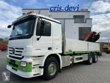 Camion plateau ridelles Mercedes Actros 2555 6x2 V8 Fassi F290 | Retarder | Euro 5