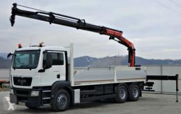 Camion MAN TGS 26.360 Pritsche 6,80 m+Kran/FUNK *6x4! plateau occasion