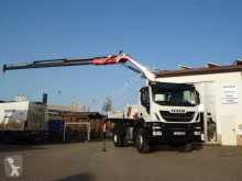 Iveco three-way side tipper truck Stralis AD190X33 4x2 Kipper + Kran Fassi F120 + Funk