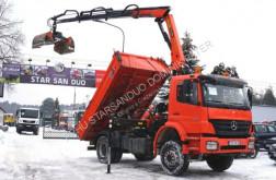 Camion benne Mercedes AXOR 1833 PALFINGER PK 12001 EURO 5 KRAN CRAN