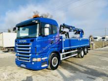 Camion plateau Scania R420. 6x2 kran TEREX 105,2