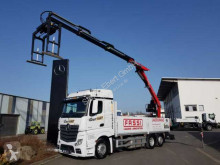 Camion cassone fisso Mercedes Actros Actros 2745 L 6x2 Kran Fassi F240AS + Funk