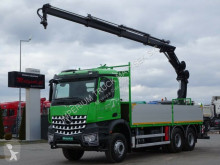 Mercedes flatbed truck AROCS 2636/6X4/BOX-6,5M+CRANE HIAB 144/RADIO/ E6