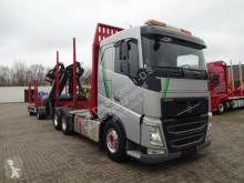 Lastbil med släp sulky Volvo FH FH 500 6x4 Holzkran mit Anhänger