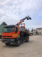 Renault Kerax 320 DCI truck used three-way side tipper