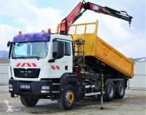 Camion plateau MAN TGS 33.400 Kipper 5,10 m + Kran * 6x4!