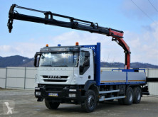 Camion plateau Iveco TRAKKER 360 Pritsche 6,70m+ Kran/FUNKTopzustand!