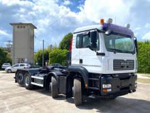 Camión MAN TGA 35.480 BALESTRATO ANTERIORE E PNEUMATICO POSTE Gancho portacontenedor usado