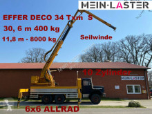 Camião estrado / caixa aberta Magirus-Deutz 256 D 26 AK 6x6 EFFER DECO 34 31 Meter 400 kg