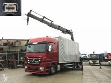 Mercedes ponyvával felszerelt plató teherautó Actros 2546 L 6x2 Pritsche Heckkran Fassi 560 (56m to)