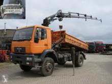 MAN LE 18.280 4x4 BB 2-Achs Allradkipper Kran Funk+Winde truck used three-way side tipper