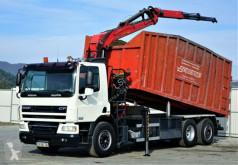 DAF skip truck CF 75.310 * Kipper 6,50 m + KRAN