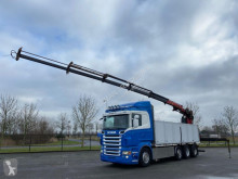 Lastbil platta Scania R620 8x4 EURO 4 WITH HMF1823 -K5 CRANE KRAN