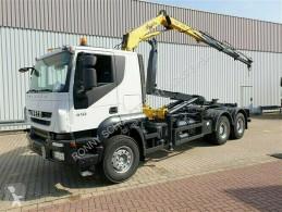 Billenőplató teherautó Trakker AT260T41 6x4 Trakker AT260T41 6x4 mit Kran Hyva V 911 3S