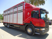 Scania P 380 truck used livestock trailer