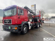 MAN plató teherautó 26.460 Crane - Kran - Grue - Full steel - Manual
