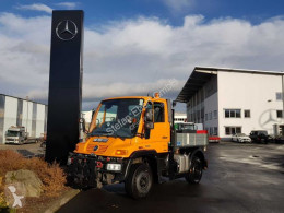 Lastbil Unimog UNIMOG U300 4x4 Hydraulik Standheizung Klima platta häckar begagnad