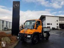 Ciężarówka Unimog Mercedes-Benz U300 4x4 Hydraulik Standheizung platforma burtowa używana