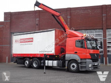 Camion rideaux coulissants (plsc) Mercedes 2536 6x2*4 - Palfinger 15500 with remote - - Full air - Steering axle