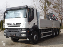 Camion plateau ridelles Iveco Trakker 360 6x4 EURO5 Pritsche mit Kran Hiab