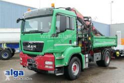 Camion ribaltabile trilaterale MAN TGS 18.540 TGS BB 4x2, Kran Palfinger PK18002, Funk