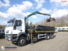 Iveco AT340T41 RHD tipper + HMF 1244 Z1 + grapple truck used tipper