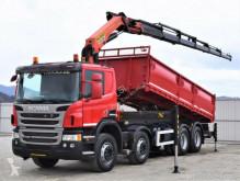 Camion plateau Scania P400 Kipper 6,20m + Kran/Funk * 8x4 * Topzustand
