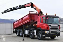 Camión volquete Scania P400 Kipper 6,20m + Kran/Funk * 8x4 * Topzustand
