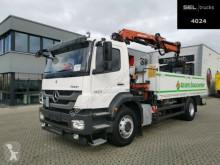Camion plateau ridelles Mercedes Axor Axor 1824 L / ATLAS Kran + Zange / Baustoff