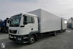 Camión remolque lona corredera (tautliner) MAN TGL TGL 12.220 Pritsche/Plane LBW L-Haus (20)