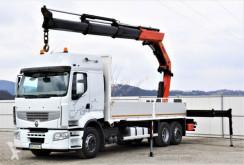 Renault flatbed truck Premium 450 DXI Pritsche 6,30m+Kran/Funk*