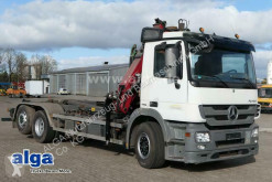 Camion polybenne Mercedes 2536 L Actros 6x2, Kran HMF 1444,Meiller RK20.65