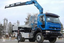 Ciężarówka platforma Renault KERAX 420 4x4 FASSI 170 Kipper