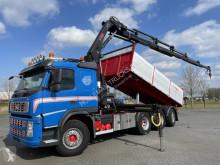 Volvo flatbed truck FM500 8x4 3 WAY TIP CRANE HIAB 211 EP-5 RADIO EURO 5