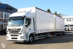 Iveco ponyvával felszerelt plató nyerges vontató és pótkocsi Stralis Iveco Stralis 360 EEV Volumen ZUG