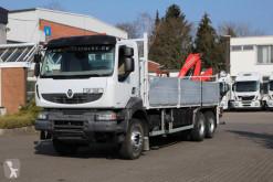 Camión caja abierta teleros Renault Kerax Renault Kerax 380 DXi 6x4 Pritsche mit Kran FASSI