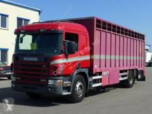 Lastbil hästtransport Scania P P94 260*Schalter*Hydraulische Rampen*