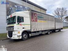 Lastbil med släp DAF XF skjutbara ridåer (flexibla skjutbara sidoväggar) begagnad