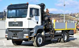 Camião MAN TGA 18.480 Pritsche 4,80m + HIAB300-3 / 4x4 !! estrado / caixa aberta usado