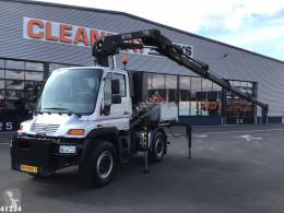 Camión caja abierta Mercedes UNIMOG U400 Hiab 28 ton/meter laadkraan