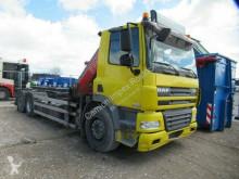 DAF skip truck CF85 CF85.360 6x2 Abroller mit Kran, 4 x hydr. Aussch