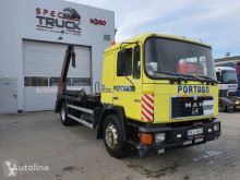 Camion multibenne MAN 18.232 ,6 cylinders, Manual Pumpe, Full Steel