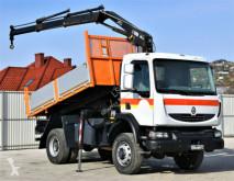 Camion Renault MIDLUM 220D Kipper 3,70m+HIAB 099CL / 4x4!! benne occasion