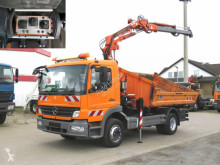 Kamión korba trojstranne sklápateľná korba Mercedes Atego 1524 K 2-Achs Kipper Kran Funk+Greifer