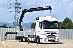 Camion Mercedes Actros 2541 Pritsche 6,50m + HMF 2823-K3/FUNK!! plateau occasion