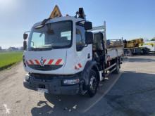 Camion Renault Midlum 220 plateau ridelles accidenté