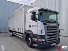Lastbil Scania PRT 270 skjutbara ridåer (flexibla skjutbara sidoväggar) begagnad