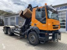 Iveco Trakker 450 6x4 Abrollkip Kran Palfinger M120z79 LKW gebrauchter Kipper/Mulde
